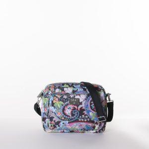 black paisley shoulder bag