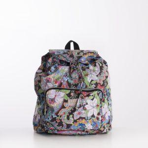 foldable lightweight backpack black paisley