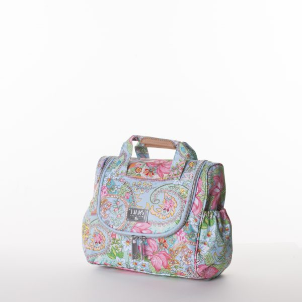 lilio blue travel bag beauty case with PVC handle