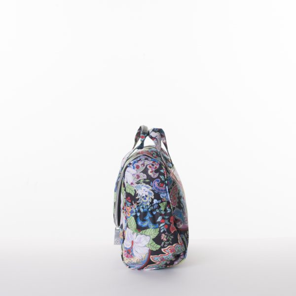 black print travel kit bag