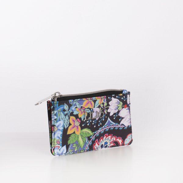 black print credit card wallet