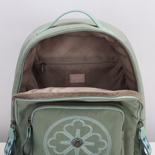 Backpack mint green with stitch lilio