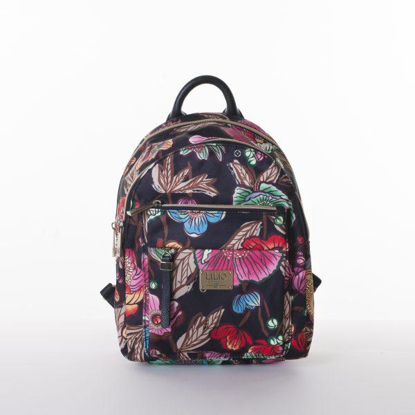 black backpack floral lilio oilily zwart