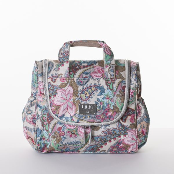 travel kit with hook lilio floral paisley sand