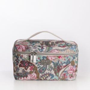 L beauty case sand paisley