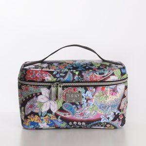 L beauty case black zwart paisley