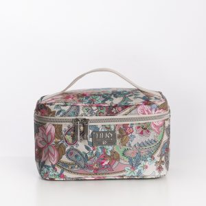 medium beauty case sand paisley