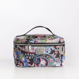 medium beauty case black paisley