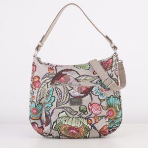 shoulder bag schoudertas zand floral
