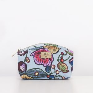 medium cosmetic bag blue