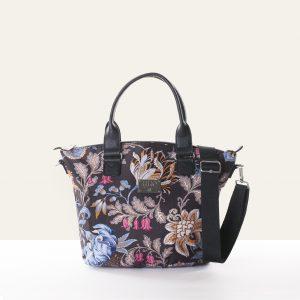 black handbag polyester