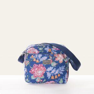 folklore shoulder bag blue floral print