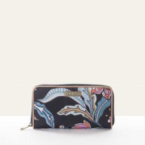 zip wallet black portemonnee floral