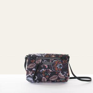small shoulder bag black rose