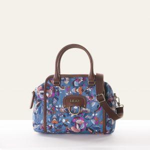 handbag blue biba floral