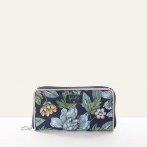 zip wallet blue
