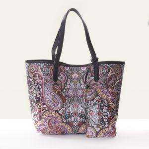 classic paisley brown shopper bag