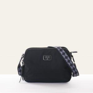 double shoulder bag black